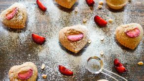 Individual Heart shaped Plum cakes