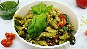 Whole Wheat Penne Pesto Salad