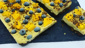 Mango Cheesecake w/ Oat Chocolate Crust