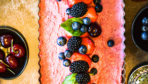 Plant-based Strawberry yoghurt tart