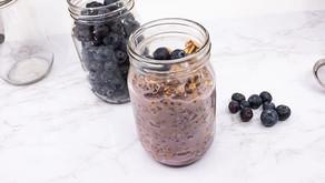 Blueberry Chai Overnight Oats