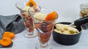 Cherry Apricot Almond Crisp