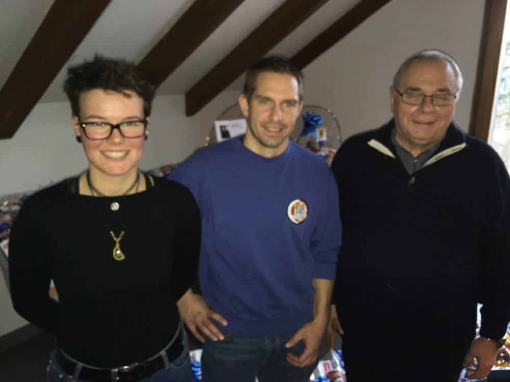 Siegertrio, v.l.n.r. Christine Bearth, Rolf Bliggenstorfer, René Moor