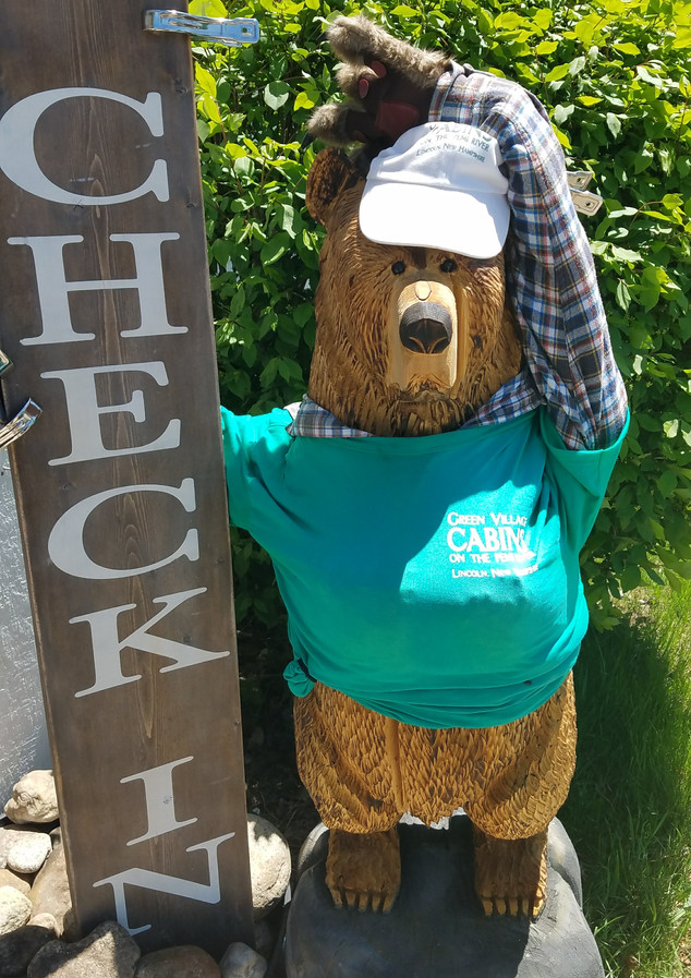 CHESTER THE CHECK-IN BEAR!