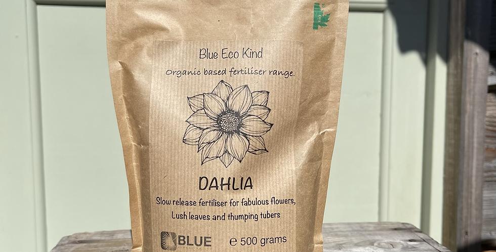 Dahlia fertiliser. Slow release, organically based.