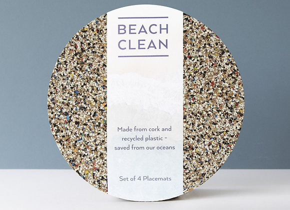 Beach Clean Round Placemats - Set of 4