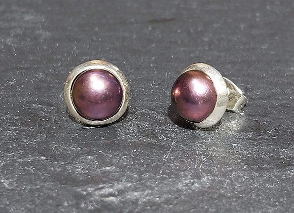 Purple Pearl Studs