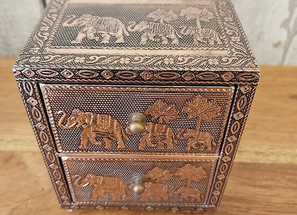 Rose Gold Elephant 2 Drawer Chest