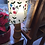 Thumbnail: Oval Lamp Shade - White Embroidered Flowers