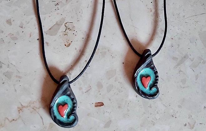 Handmade Ceramic Heart Pendant