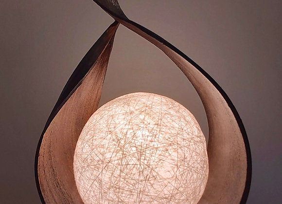 Natural Coconut Leaf Lamp - Chocolate Wrapover Twist