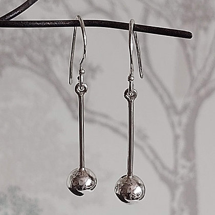 Ball on Stem Drop Earrings