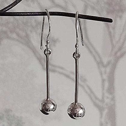 Ball on Stem Drop Earrings