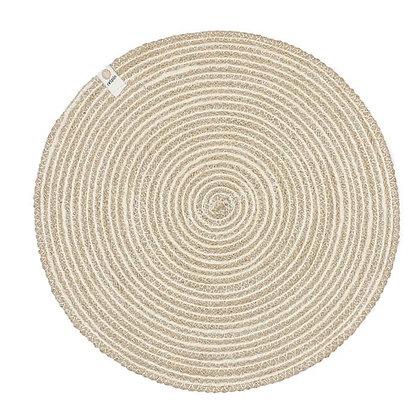 Jute Spiral Placemat - White