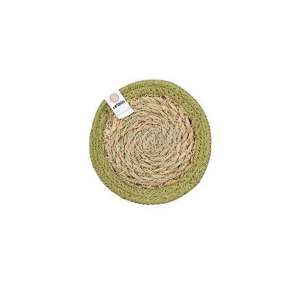 Seagrass & Jute Coaster - Green