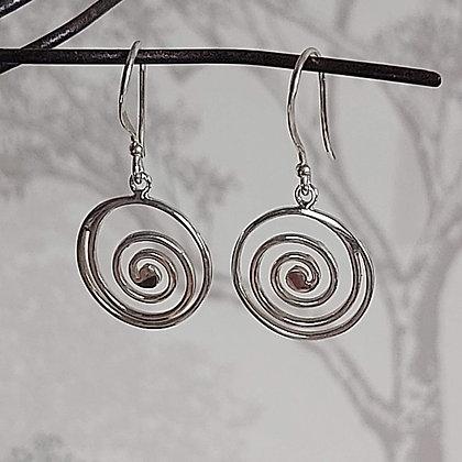 Plain Spiral Drop Earrings