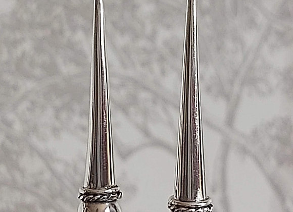 Long Cone with Ball Earrings