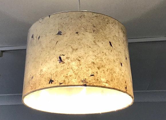 Drum Lamp Shade - Cornflower Petals