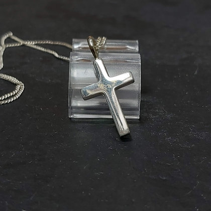 Plain Silver Cross Pendant