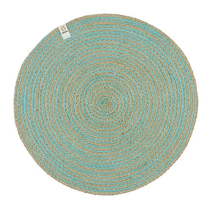 Jute Spiral Placemat - Turquoise