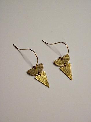 Triangle & Half Circle Drop Earrings