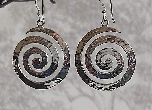 Large Magic Spiral Drop Earrings