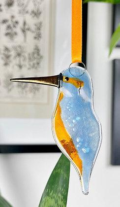 Kingfisher Glass Hanging Decoration