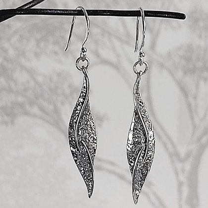 Elongated Leaf Drop Earrings