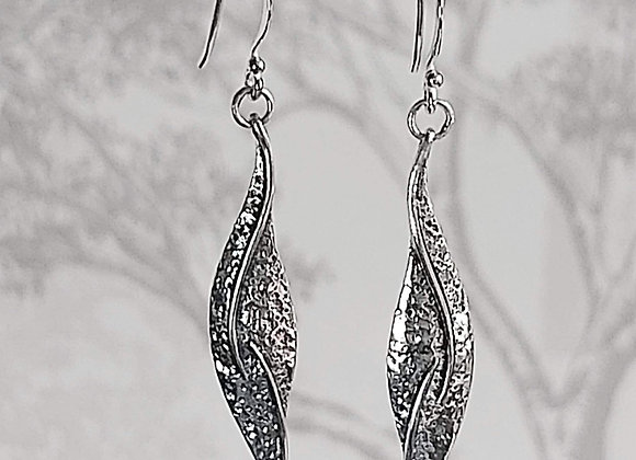 Elongated Leaf Drop Earrings