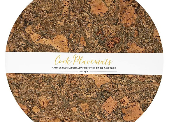 Cork Round Placemats - Set of 4