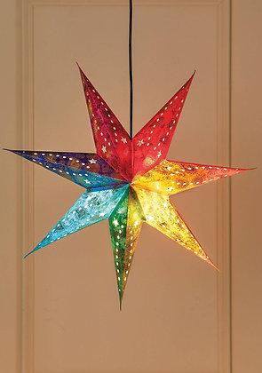 Rainbow 7-Point Star Light Shade