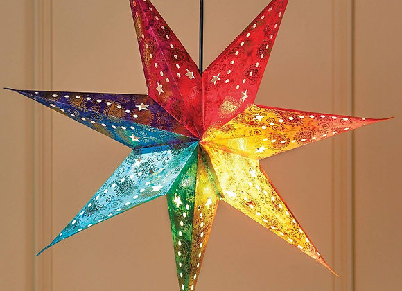 Rainbow 7-Point Star Light Shade