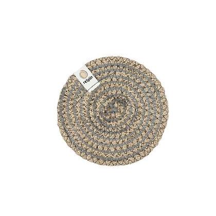 Jute Spiral Coaster - Grey
