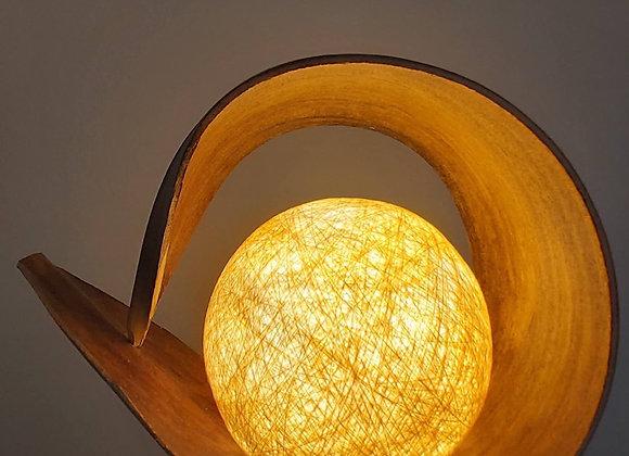 Natural Coconut Leaf  Lamp - Natural Loop
