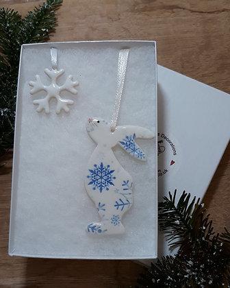 Snow Bunny Hanging Decoration