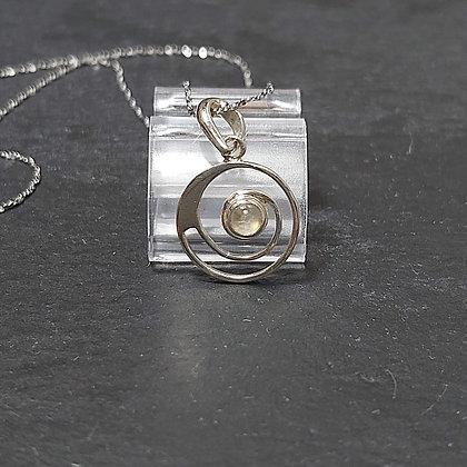 Spiral & Moonstone Pendant
