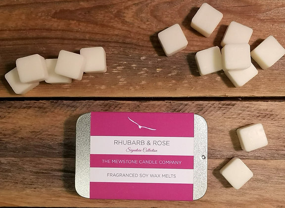Rhubarb & Rose Wax Melt Slider Tin