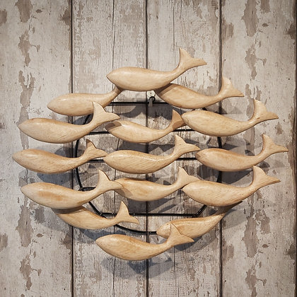Natural Round Fish Wall Art