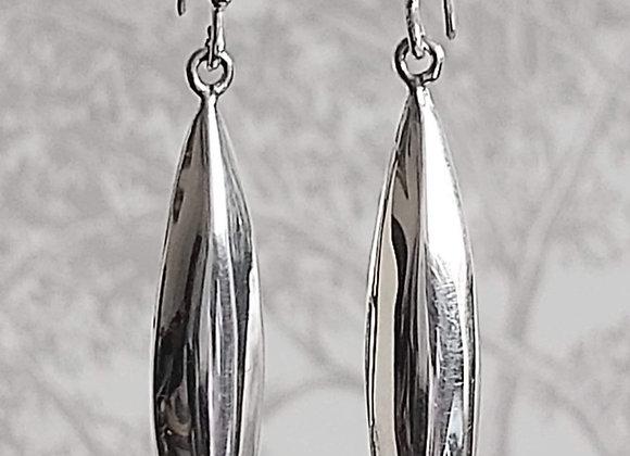 Bamboo Leaf Drop Earrings