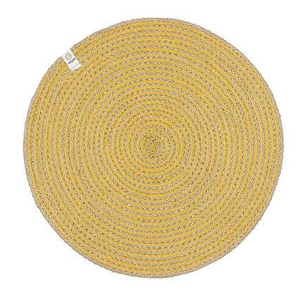 Jute Spiral Placemat - Yellow