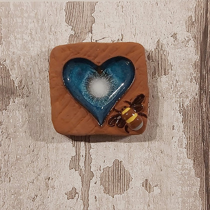 Ceramic Tiles - Brick Heart and Bee