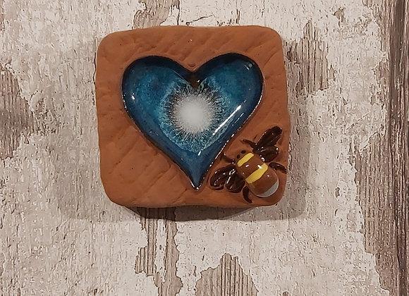 Ceramic Tiles - Brick Heart and Bee
