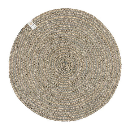 Jute Spiral Placemat - Grey