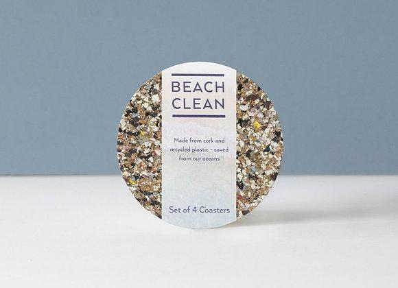 Beach Clean Round Coasters - Set of 4