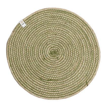Jute Spiral Placemat - Green