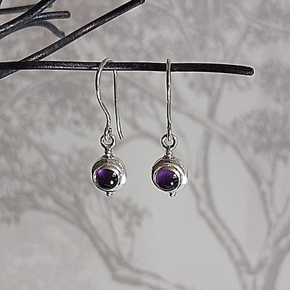 Amethyst Stone Drop Earrings