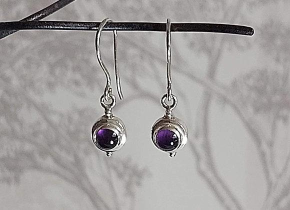 Amethyst Stone Drop Earrings