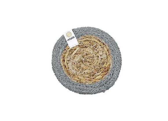 Seagrass & Jute Coaster - Grey