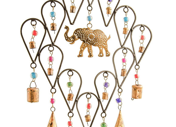Elephant Windchime with Bells