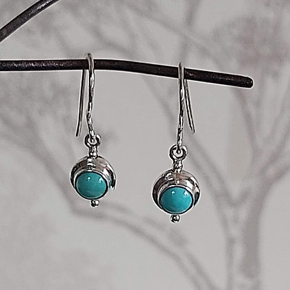 Turquoise Stone Drop Earrings